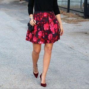 GAP Pink Floral Inverted Pleat Skirt